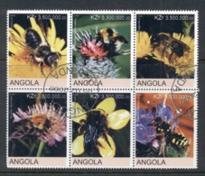 Angola 2000 Flowers, Bees Blk6 (rebel Issue) CTO - Angola