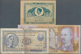 Romania / Rumänien: Small Collection With 33 Banknotes Romania 1941 - 2008 Containing For Example 10 - Romania