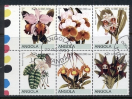 Angola 2000 Flowers, Orchids Blk6 (rebel Issue) CTO - Angola