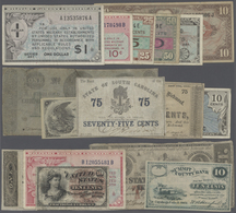 United States Of America: Larger Set Of About 190 Banknotes Containing Many Issues Of MPC (Military - United States Of America