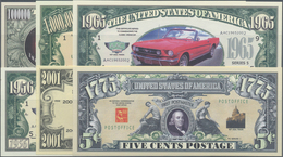 """United States Of America: Large Lot Of 149 Fun Notes Containing Many Fun """"US Dollars"""" With Different - United States Of America"""