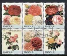 Angola 2000 Flowers, Roses Blk6 (rebel Issue) CTO - Angola