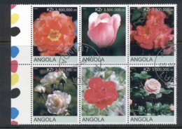 Angola 2000 Flowers, Tulips, Roses Blk6 (rebel Issue) CTO - Angola