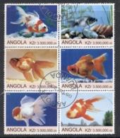 Angola 2000 Goldfish Blk6 (rebel Issue) CTO - Angola