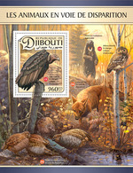 DJIBOUTI 2017 - Endangered Owl - YT BF156; CV=19 € - Owls