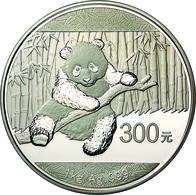 China - Volksrepublik: 300 Yuan 2014, Silber Panda, 1 Kg 999/1000 Silber. Inklusive Zertifikat, Etui - China