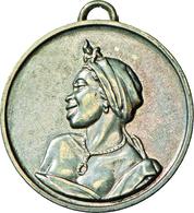 Medaillen Alle Welt: Senegal: Tragbare Silbermedaille O. J., 40 Mm, 17,16 G, Herrliche Tönung, Von G - Tokens & Medals