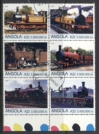 Angola 2000 Steam Trains Blk6 (rebel Issue) CTO - Angola