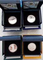 China - Volksrepublik: Lot 6 Silbermünzen Polierte Platte, Dabei: 2 X 10 Yuan 2015 Tibet (1 OZ), 2 X - China
