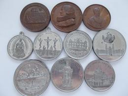 Medaillen - Religion: Lot 10 Medaillen Mit Religions-Motiven, Dabei: Medaille 1832 (C. Pfeuffer, B. - Tokens & Medals