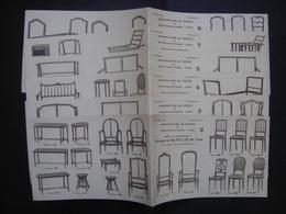 Catalogue Debut XXe CHAISE SIEGE FAUTEUIL LIT Ruelle Bethisy St Pierre BOIS - Planches & Plans Techniques