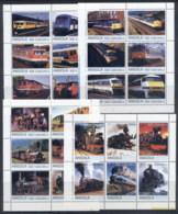 Angola 2000 Trains (Rebel Issue) 4xMS MUH - Angola