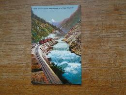 Suisse , Chemin De Fer Viège-zermatt Et La Viège ( Vispbach ) - VS Valais