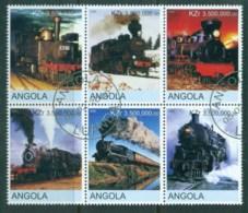 Angola 2000 Trains (Rebel Issue) CTO - Angola
