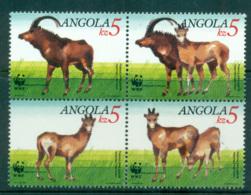 Angola 2000 WWF Antelope Blk 4 MUH Lot64003 - Angola