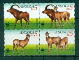 Angola 2000 WWF Antelope Blk 4 MUH Lot81594 - Angola