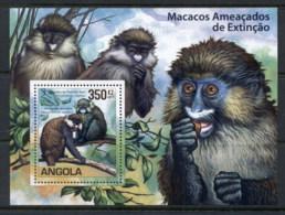Angola 2011 Angola Guenons, Monkey MS MUH - Angola