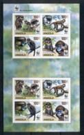 Angola 2011 WWF Angola Guenons, Monkey IMPERF MS Pr MUH - Angola