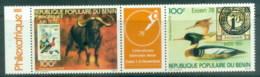 Benin 1978 Philexafrique, Birds, Buffalo Pr + Label MUH - Benin - Dahomey (1960-...)
