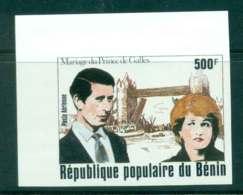 Benin 1981 Charles & Diana Wedding IMPERF MUH Lot44800 - Benin - Dahomey (1960-...)