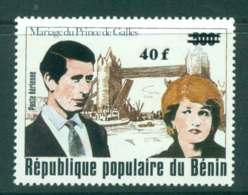 Benin 1981 Charles & Diana Wedding Surch. MUH Lot44801 - Benin - Dahomey (1960-...)