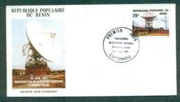 Benin 1984 Abomey Calavi Earth Station FDC Lot50490 - Benin - Dahomey (1960-...)