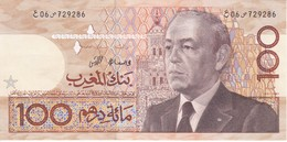 BILLETE DE MARRUECOS DE 100 DIRHAMS DEL  AÑO 1987 EN CALIDAD EBC (XF) (BANKNOTE) - Marruecos