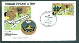 Benin 1985 ASECNA AirlinesPlane FDC Lot50493 - Benin - Dahomey (1960-...)