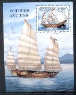 Benin 1997 Old Sailing Ships MS CTO - Benin - Dahomey (1960-...)
