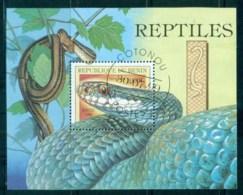 Benin 1999 Reptiles, Snake MS CTO - Benin - Dahomey (1960-...)