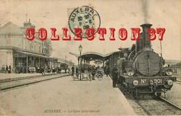 OF ☺♦♦ GARE < ARRIVEE Du TRAIN à AUXERRE - BAHN - BAHNHOF - Stations With Trains