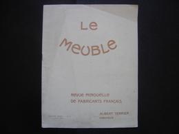 1923 LE MEUBLE 4 Terrier BOIS ART DECO Le Siege A Travers Les Ages SALON Pub - Planches & Plans Techniques
