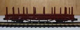 Type N - Wagon Ridelles Basses Et Ranchers Brun De Roco - Sans Boite - Goods Waggons (wagons)