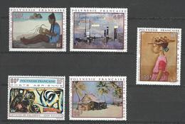 """Polynésie Aerien YT 40 à 44 (PA) """" Artistes En Polynésie """" 1970 Neuf** - Airmail"""