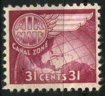 PANAMA/CANAL ( AERIEN ) : Y&T N°  28  TIMBRE  NEUF  AVEC  TRACE  DE  CHARNIERE . - Panama