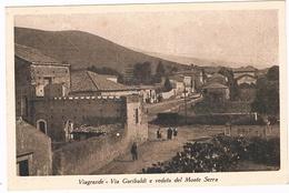 B3161- Viagrande, Via Garibaldi E Veduta Del Monte Serra, Viaggiata 1931 Perfetta - Catania