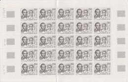 Iceland 1979 Jon Sigurdsson Statesman 1v Complete Sheetlet (shtlt Is 1x Folded) ** Mnh (F7480) - Ungebraucht