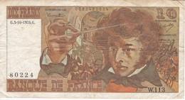 BILLETE DE FRANCIA DE 10 FRANCOS DEL 3-10-1974  (BANKNOTE) BERLIOZ - 1962-1997 ''Francs''