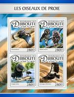 DJIBOUTI 2017 - Birds Of Prey, Owls - YT 1396-9; CV=20 € - Owls