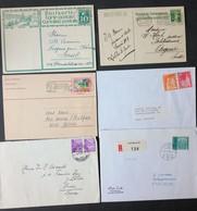1910/1990, SCHWEIZ: Ca. 250-300 Briefe Und Karten Netto Ca. 1.000 Gramm - Timbres