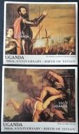 Uganda 1988 Paintings By Titian S/S Pair - Uganda (1962-...)
