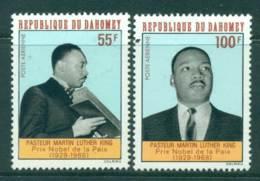 Dahomey 1968 55f, 100f Martin Luther King MUH Lot41604 - Benin - Dahomey (1960-...)