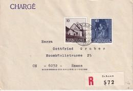LIECHTENSTEIN 1965 LETTRE RECOMMANDEE DE SCHAAN SANS CACHET ARRIVEE - Poste Aérienne