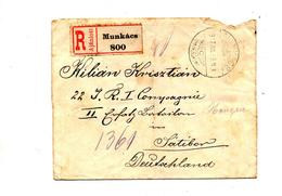 Lettre Recommandee Munkacs Sur Recolte + Ratibor - Storia Postale