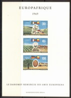 Dahomey 1969 Europafrica IMPERF MSMUH - Benin - Dahomey (1960-...)