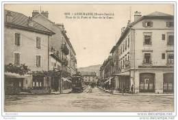 74 ANNEMASSE - PLACE DE LA POSTE ET RUE DE LA GARE - Annemasse