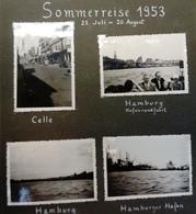 Album Paille De 150 Photos Originales 1953 - Hamburg, Helgoland, Bremen, Nordseebad, Am Rhein, Schwarzwald, Rothenburg - Albums & Collections
