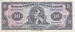 BILLETE DE ECUADOR DE 10 SUCRES DEL AÑO 1975 (BANKNOTE) - Equateur