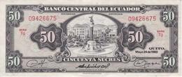 BILLETE DE ECUADOR DE 50 SUCRES DEL AÑO 1980 EN CALIDAD EBC (XF) (BANK NOTE) - Equateur