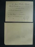 CAMBODGE KHNOM PENH  INVITATION SA Majesté NORODOM SIHANOUK , Venir Diner  Au Palais Royal (Chanchhaye) 1942 Clas 4 - Announcements
